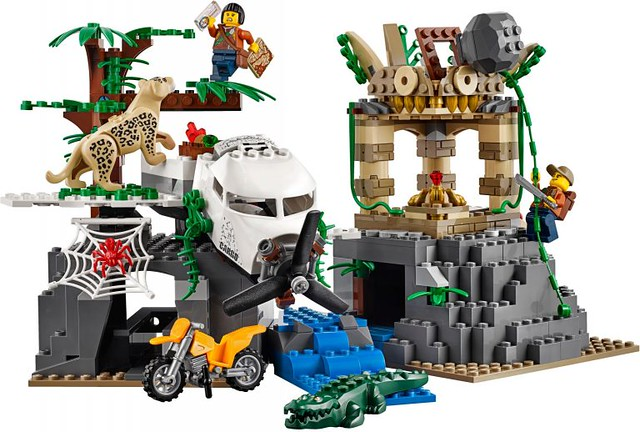 我聞到冒險的味道了~~LEGO 60162【叢林直升機空降】Jungle Air Drop Helicopter  城市系列:叢林探險篇 官圖、販售資訊整理