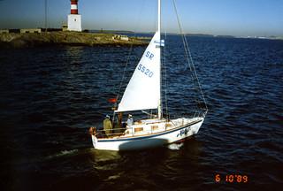 Virolainen purjevene Harmajalla