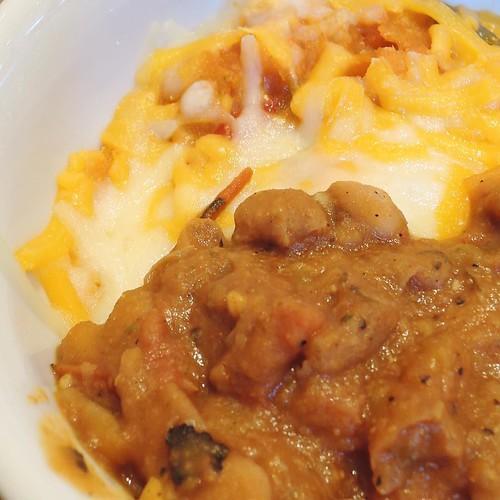 朝食ビュッフェ3皿目は、メキシカンな感じで。
