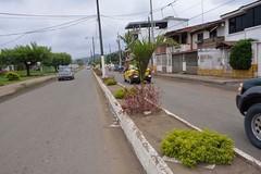 Avenida Amazonas de Chone cuenta con luminarias de pisos