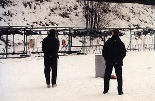 Ampumaharjoituksia Santahaminassa 21.03.1994