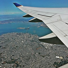 San Francisco, Bay Bridge, and the East Bay. Almost home.