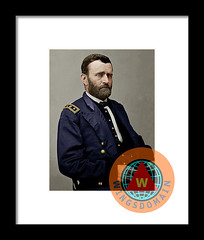 United States Of America President General Ulysses S Grant Colorized Framed Print