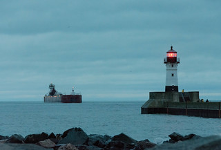 Duluth Trip - Joyce L Van Enkevort/Great Lakes Trader Approaching Duluth Harbor Entry