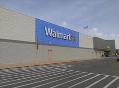 Walmart Bartlett, exterior repaint in progress (early April 2017)