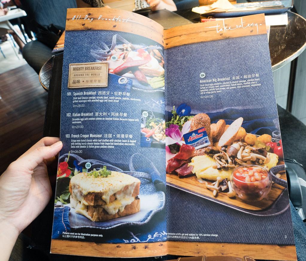 Mighty Breakfast menu of Take Eat Easy Modern Bakery & Cafe at Bandar Menjalara, Kepong
