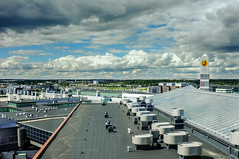 Rooftops towards Helsinki airport