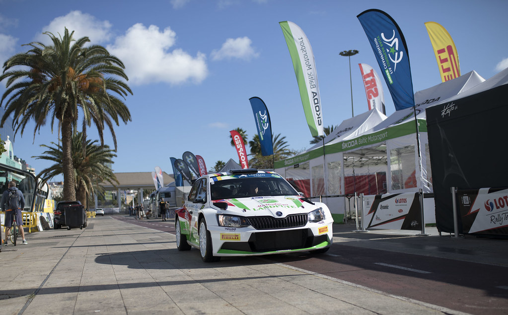 GRIEBEL Marijan (DEU), KOPCZYK Stefan (DEU), Skoda Fabia R5, ambiance portrait during the 2017 European Rally Championship ERC Rally Islas Canarias, El Corte Inglés,  from May 4 to 6, at Las Palmas, Spain - Photo Gregory Lenormand / DPPI