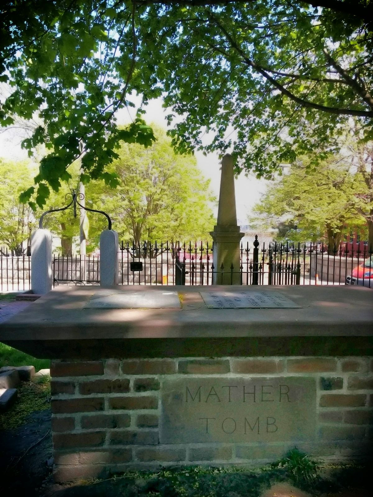 Mather Tomb at Copp's Hill Burying Ground