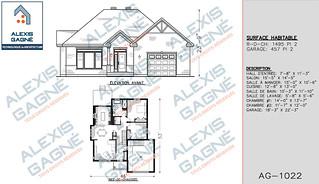 Plan de maison 1 étage avec garage - MM1eG.09