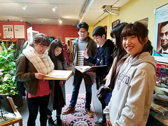 Students enjoy materials exhibited at the Unity Museum in Seattle, Washington. Photo courtesy of Zabine Van Ness