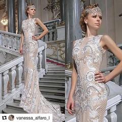 Published! Oh! Magazine Los Tiempos Bolivia. Designer @vanessa_alfaro_l  .#Repost @vanessa_alfaro_l  ・・・ Published in OH! Magazine - Bolivia.  Beautiful @parissjade in our beautiful hand beaded wedding dress. Photo: @mstrartist , MUAH: @cocoshaay