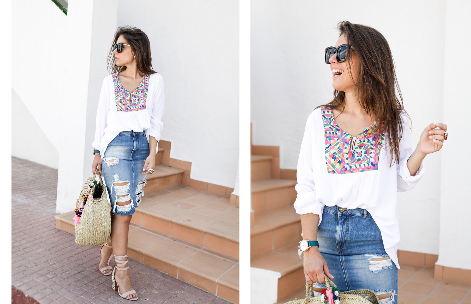 08_ripped_denim_skirt_white_shirt_ruga_style_theguestgirl_barcelona