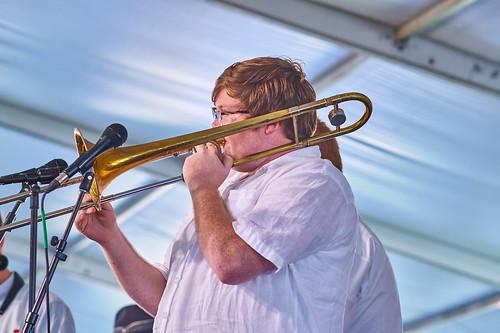 Doyle Cooper Jazz Band on Day 4 of Jazz Fest 2017 - May 4. Photo by Eli Mergel.