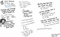 """Test-Driven CSS"" @juancaicedo @stirtrek #sketchnotes #stirtrek2017"