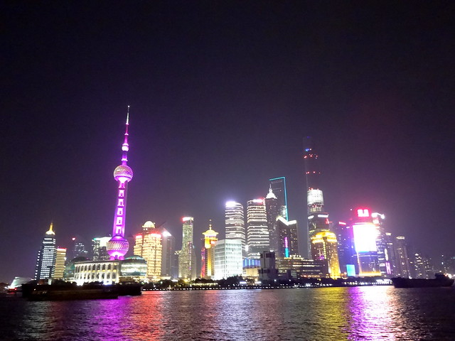 Pudong by night à Shanghai