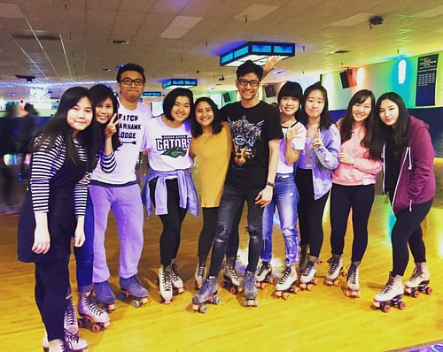 Green River College students enjoy and evening of Roller skating. #greenrivercollege #studentlife