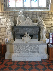 Monument to Sir Christopher Powell, d. 1742 by Peter Scheemakers