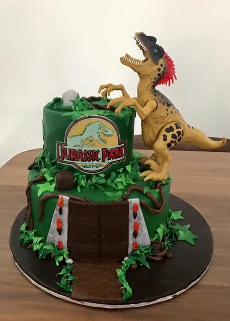Jurassic Park Cake by Bhavini's Creations