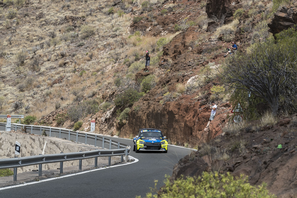 10 MICHEL Sylvain (FRA), DEGOUT Jerome (FRA), Skoda Fabia R5, Action during the 2017 European Rally Championship ERC Rally Islas Canarias, El Corte Inglés,  from May 4 to 6, at Las Palmas, Spain - Photo Gregory Lenormand / DPPI