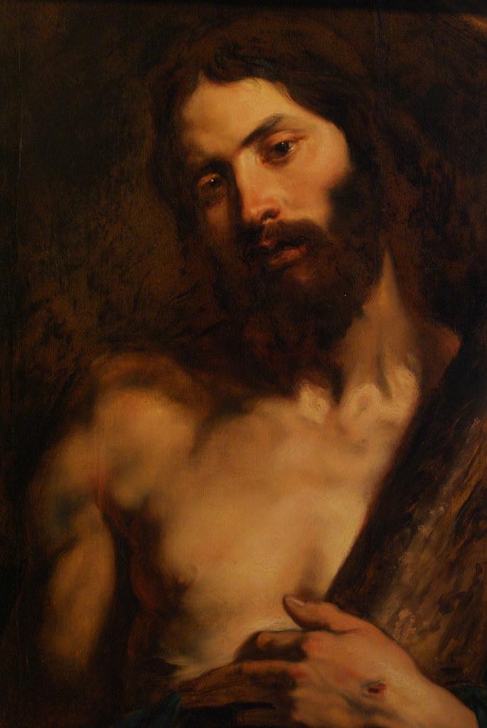 """Jésus portant la croix"" tableau de van Dyck à la Pinacothèque de Gênes."
