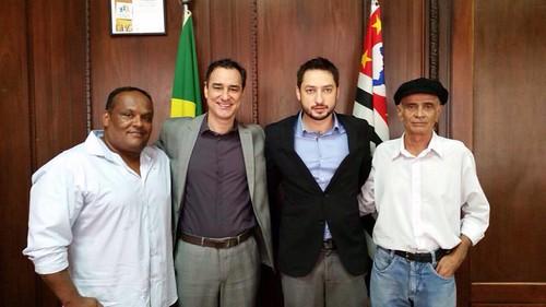 Geverson Eduardo Ramos - presidente da FPLBI, Marco Vinholi - deputado estadual e Edevaldo Antonio Correia.