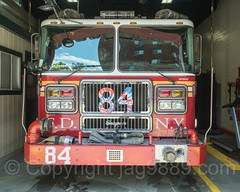 FDNY Engine 84 Fire Truck, Washington Heights, New York City