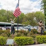 `We Pledge Allegiance` Veterans Memorial (1999) by Robert St. Croix, Bloomfield, Staten Island, New York City