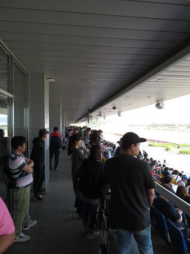 釜山慶南競馬場のスタンド出入口