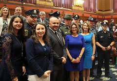 State Representative Rosa C. Rebimbas and several of her Republican colleagues honor Connecticut Police Officers and State Troopers during National Police Week.