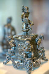 Inkstand with Bound Satyrs and Three Labors of Hercules