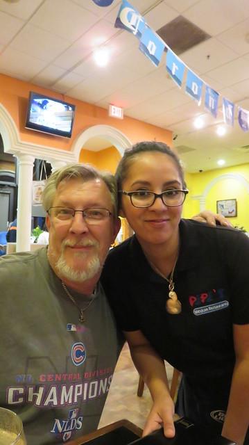Gary & our favorite server, Christina