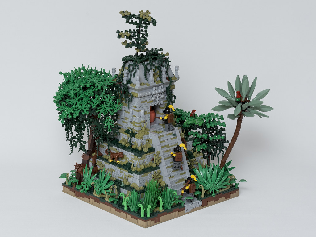 Jungle temple (custom built Lego model)