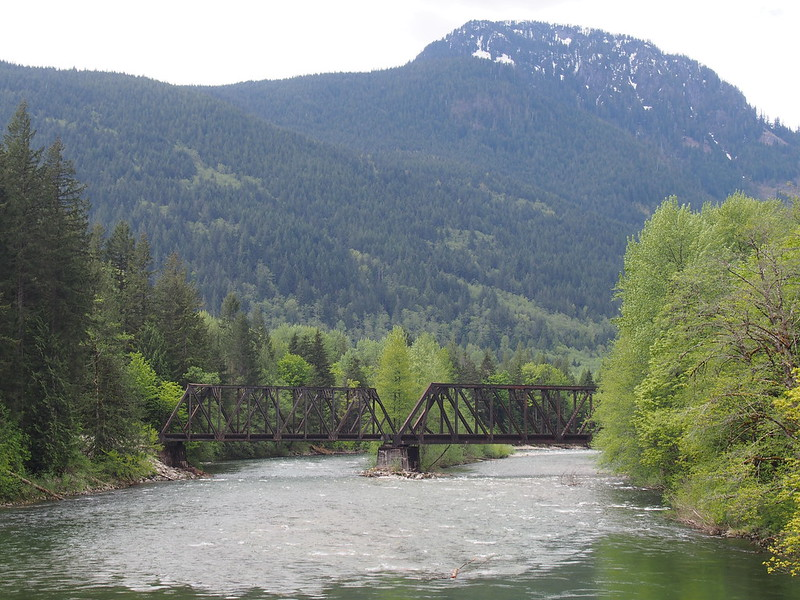 Palmer Mountain over South Fork Skykomish River