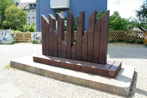 Denkmal für die Synagoge der Gemeinde Adass Jisroel