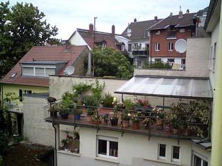 Eine Terrasse in der Hirschstraße 54 Karlsruhe