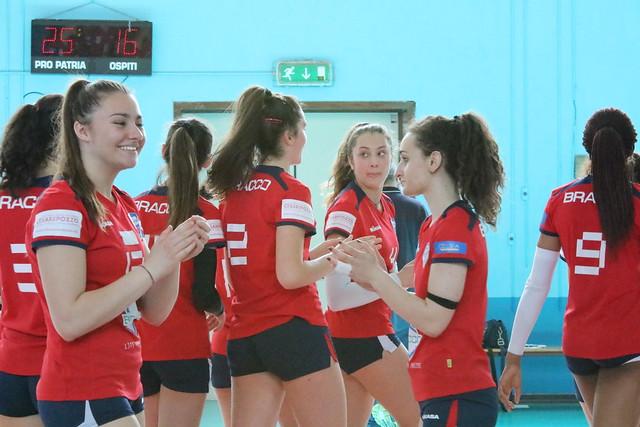 U16 Blu Fase Regionale 23 Aprile 2017 Gara 1 Bracco Pro Patria  - Viviamo Volley 3 - 0