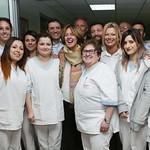 il ministro con le ragazze del centro medico di San Patrignano