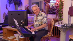 Captain Rick at the Keyboard in his Music Room