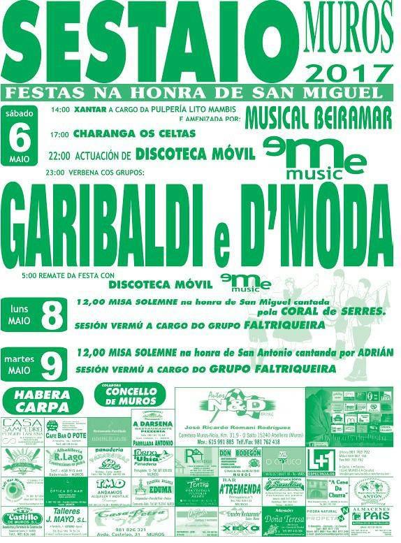Muros 2017 - Festas de San Miguel en Sestaio - cartel