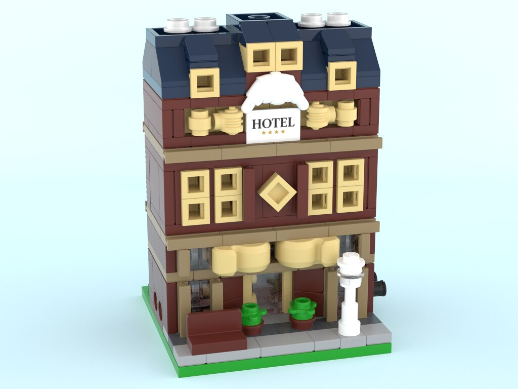 Grand Hotel – Mini Modular (custom built Lego model)