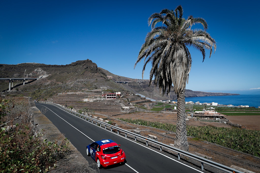 03 LOPEZ Jose Maria (ESP) HERNANDEZ Borja Peugeot 208 T16 Action during the 2017 European Rally Championship ERC Rally Islas Canarias, El Corte Inglés,  from May 4 to 6, at Las Palmas, Spain - Photo Alexandre Guillaumot / DPPI