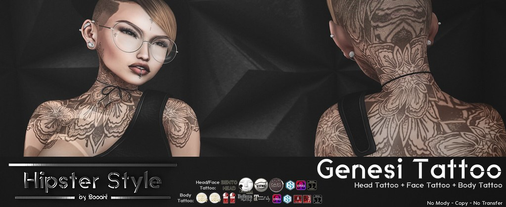 [Hipster Style] Genesi TATTOO - SecondLifeHub.com