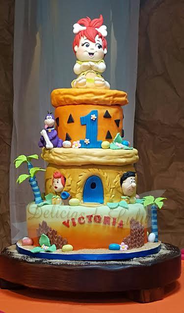 Cute Flintstones Themed Cake by Lourdes Reveron from Delicias de Lulu
