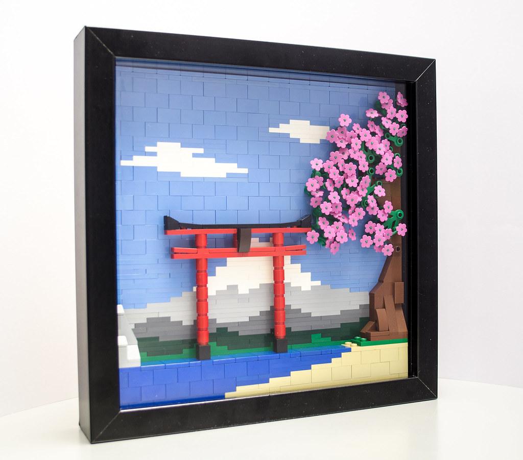 Momoiro sakura (custom built Lego model)