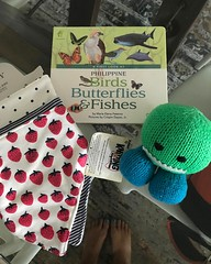 Wohoo! Thanks for the baby loot, Tita @chiquicolet ! We super love it. And yay, another book for our Luca library. Thanks for thinking of us! Hugs from singapore!