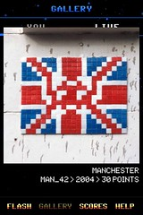 MAN_42 , Invader, Flash Invaders, street art Manchester