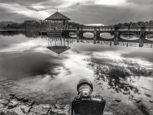 blackwhite sky clouds landscape canon5d huaweimate9 lowerpeircereservoir reflections tomquah singapore sunset leicaduallens han tha historical canonef24105mmf4l monochrome