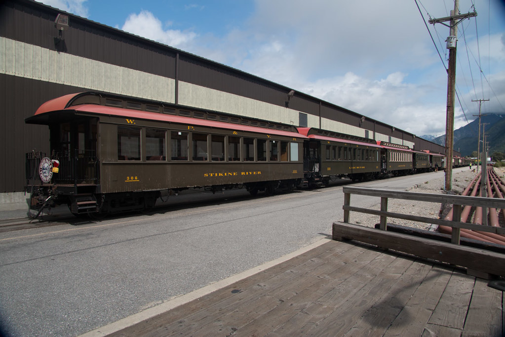 Exterior of White Pass train