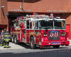 FDNY Ladder 58 Fire Truck, West Farms, New York City